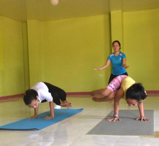 Practice teaching with the faculty of Marichi Yoga House