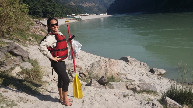 Ready for river rafting at the Ganges. Not exactly waterproof. But I had an amazing experience.